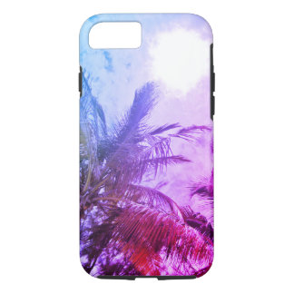 Purple palm tree Iphone case
