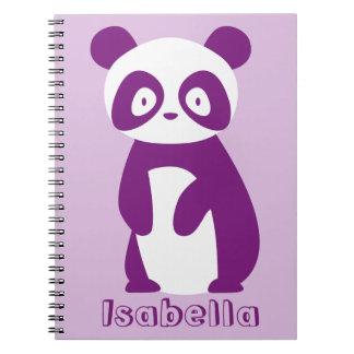 Purple Panda (Any Name) Personalised Notebook