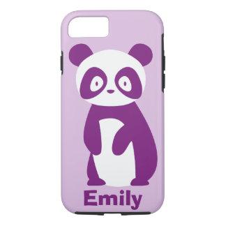 Purple Panda (Any Name) Personalised Phone Case