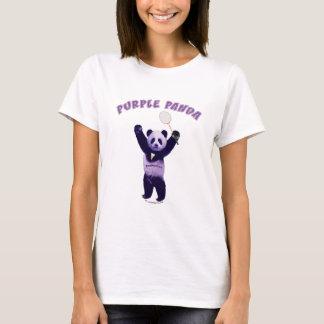 Purple Panda Badminton T-Shirt
