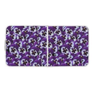 Purple Pansies, Aluminum Folding Table Pong Table