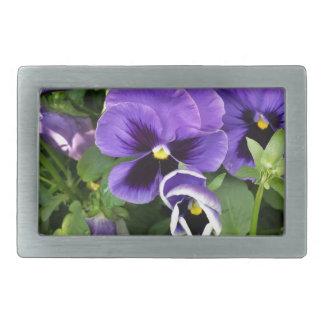 purple pansies belt buckle