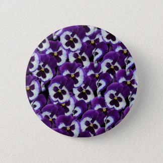 Purple_Pansies_Bouquet,_ 2 Inch Round Button