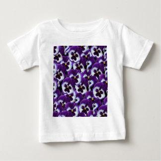 Purple_Pansies_Bouquet,_ Baby T-Shirt