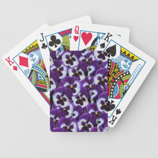 Purple_Pansies_Bouquet,_ Bicycle Playing Cards