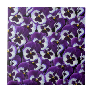Purple_Pansies_Bouquet,_. Ceramic Tiles