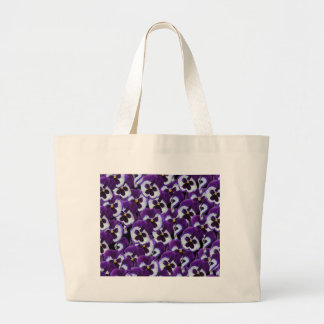 Purple_Pansies_Bouquet,_ Large Tote Bag