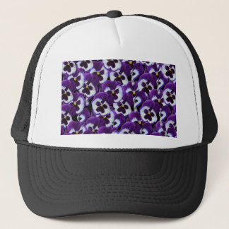 Purple_Pansies_Bouquet,_ Trucker Hat