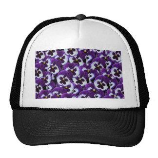 Purple_Pansies_Bouquet,_ Trucker Hat