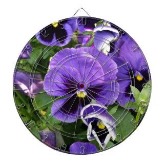 purple pansies dartboard