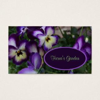 Purple Pansies Florist or Nursery Business Card