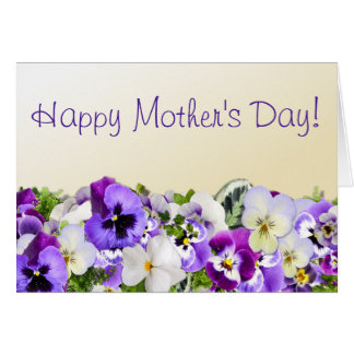 Purple Pansies Mother's Day Card