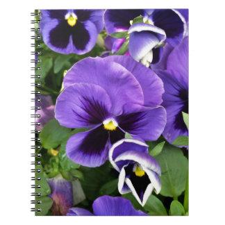 purple pansies notebook