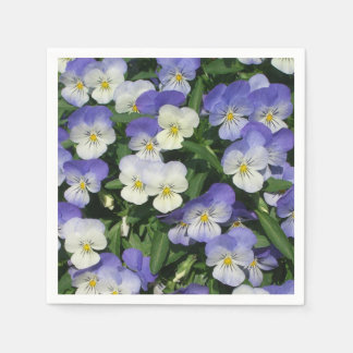 Purple Pansies Paper Napkin