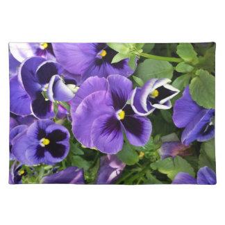 purple pansies placemat
