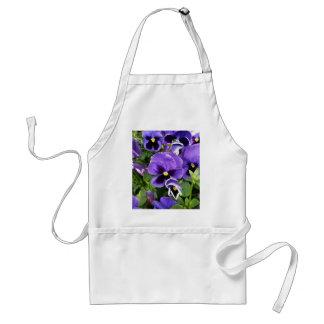 purple pansies standard apron