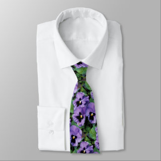 Purple Pansies Tie