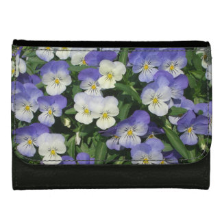 Purple Pansies Wallet For Women