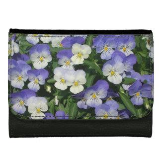 Purple Pansies Women's Wallet