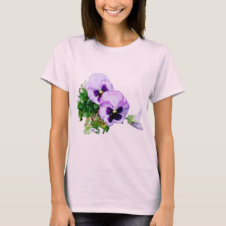 purple pansy 2016 watercolor tee shirt