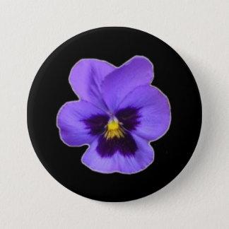 Purple Pansy 3 Inch Round Button