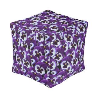 Purple Pansy Bouquet, Pouf