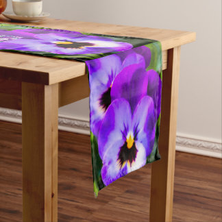 Purple Pansy Butterfly Table Runner