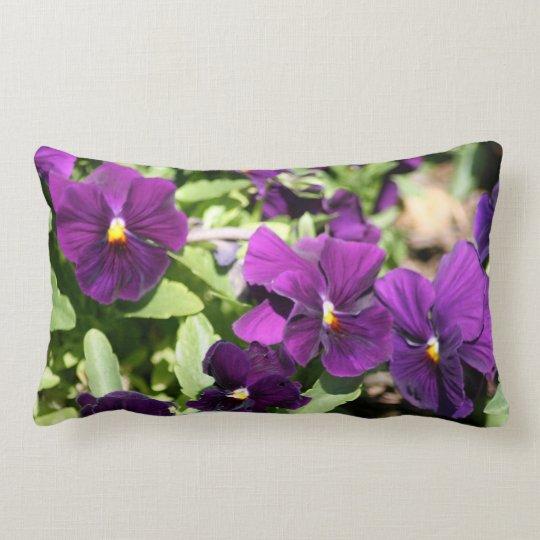 Purple Pansy Custom Outdoor Pillow