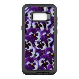 Purple Pansy  Defender Samsung Galaxy S8+ Case