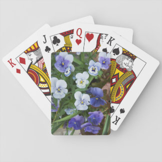 Purple Pansy Floral Playing Cards Gardener Gift