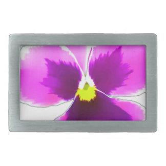 Purple Pansy Flower 201711 Belt Buckles