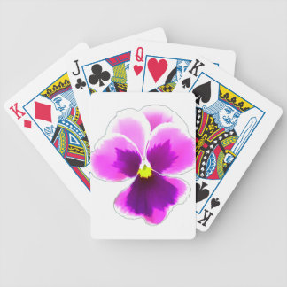 Purple Pansy Flower 201711 Bicycle Playing Cards