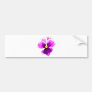 Purple Pansy Flower 201711 Bumper Sticker
