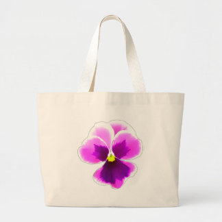 Purple Pansy Flower 201711 Large Tote Bag