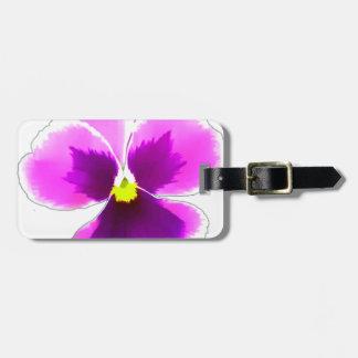 Purple Pansy Flower 201711 Luggage Tag