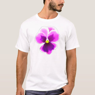 Purple Pansy Flower 201711 T-Shirt
