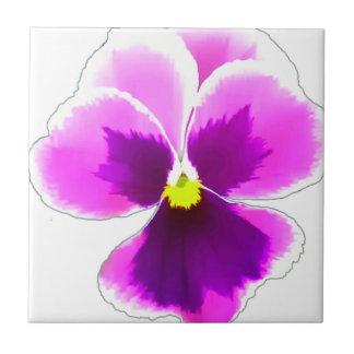 Purple Pansy Flower 201711 Tile