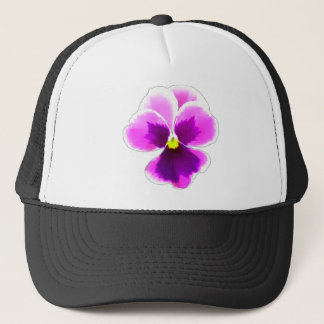 Purple Pansy Flower 201711 Trucker Hat