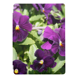 Purple Pansy Flowers iPad Pro Cover
