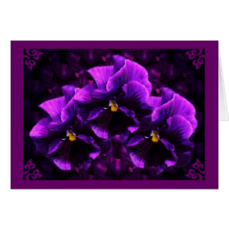 Purple Pansy Goth Art Card
