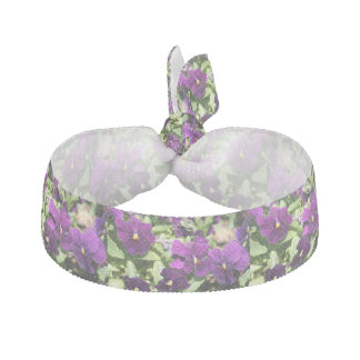 Purple Pansy Hair Tie