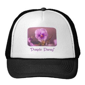 Purple Pansy Impressionist Trucker Hat