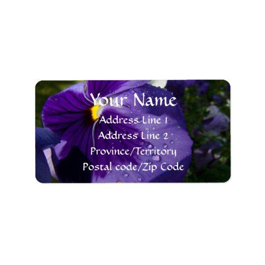 Purple Pansy Label
