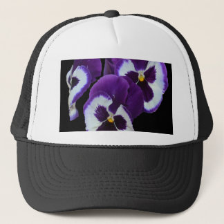 Purple_Pansy_Posy,_ Trucker Hat