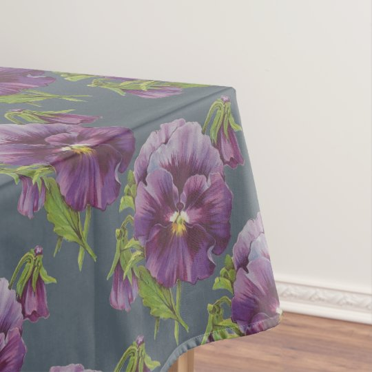 Purple Pansy Tablecloth