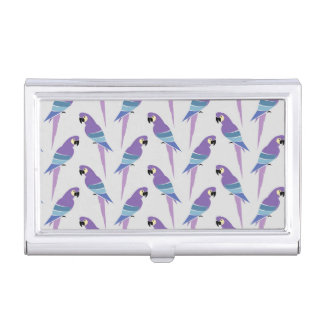 Purple Parrots Business Card Holders