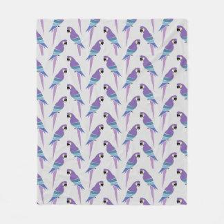 Purple Parrots Fleece Blanket