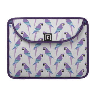 Purple Parrots Sleeve For MacBooks