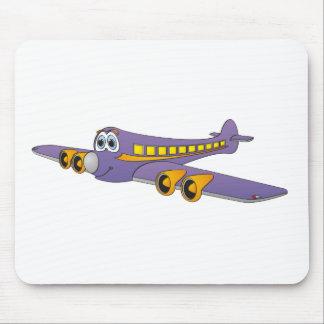 Purple Passenger Jet Cartoon Mouse Pad