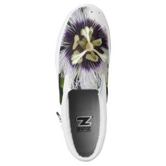 PURPLE PASSION FRUIT FLOWER Slip-On SNEAKERS